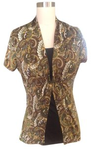 Notations Paisely Chic Top Green Paisley