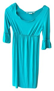 Max Studio short dress Turquoise on Tradesy