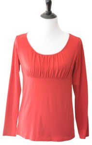 Ann Taylor LOFT Longsleeve Shirt Top Red