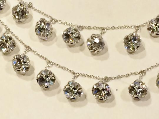 Kate Spade Silver Rhodium Plated with Glass Crystals Lady Marmalade Triple Strand Statement Necklace Image 4