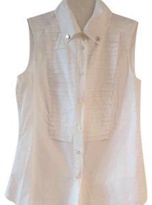 Carolina Herrera Button Down Shirt White