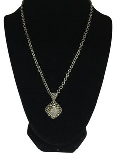 EFFY Effy Sterling Silver Diamond Encrusted Necklace.