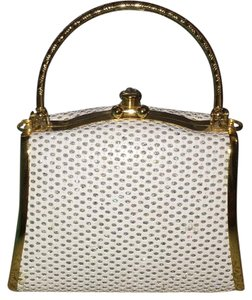 Evening Purse Evening Gold White Clutch