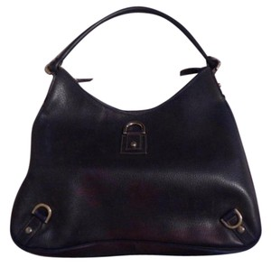 Gucci Abbey D-ring Extra Large Size Mint Vintage Navy Leather Hardware Hobo Bag