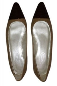 Talbots Tan suede with brown leather trim Flats