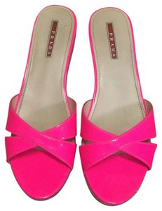 Prada Shocking Pink Wedges