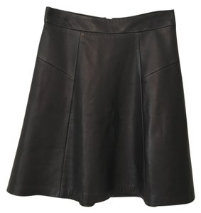 Rag & Bone Leather Skirt Black