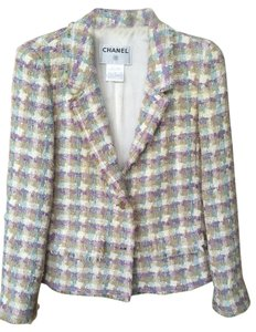 Chanel Tweed Vintage Lavender Lavender, cream, teal Blazer