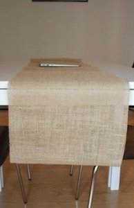 12 - Handmade Burlap Table Runners