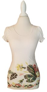 Anthropologie Floral Spring Summer T Shirt multi