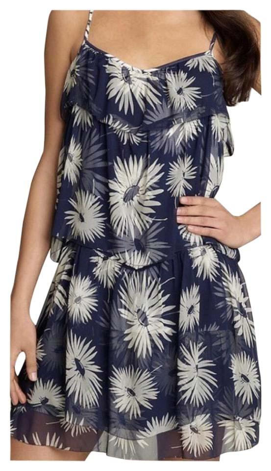 4daae987a3e Juicy Couture Navy Daisy Tiered Above Knee Short Casual Dress Size ...