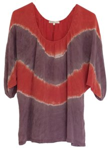 Matty M Top Orange, taupe, purple