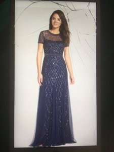 Adrianna Papell Navy 091904940 Dress