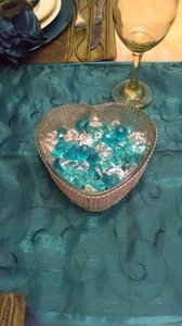 Rhinestone Heart Shaped Dish