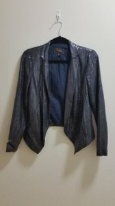 Madewell Sequin Party Silk navy Blazer