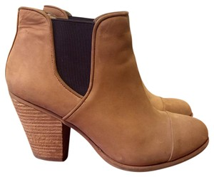 Vince Camuto Nubuck Leather Stacked Heel Sand Boots