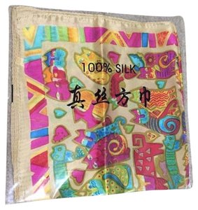 Other Chinese Silk Scarf - Multicolored