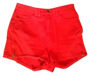 American Apparel High-waisted Pin-up Mini/Short Shorts red