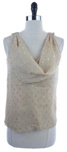 J.Crew New Silk Blend Cowl Neck Cam Sleeveless Top GOLD