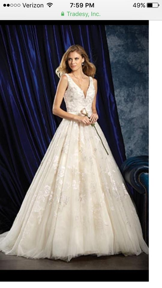 Alfred Angelo Ivory Lace Formal Wedding Dress Size 10 (M) - Tradesy