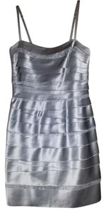 BCBGMAXAZRIA Laser Cut Sequin Tiered Dress