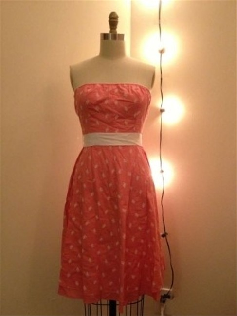 Guess short dress Peach Blossom/White Floral on Tradesy
