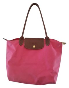 Longchamp Le Pllage Tote in Malabr PInk