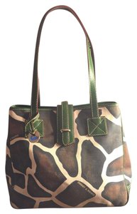 Dooney & Bourke Tote in Green/brown/off White