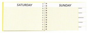 Kate Spade THE WEEKEND CALENDAR NEW