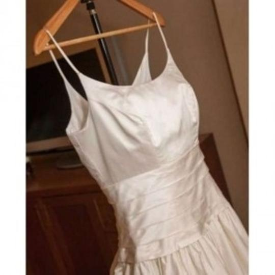 Alfred Angelo Ivory Silk Classic Beauty Formal Wedding Dress Size 6 (S)