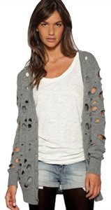 Other Grey Holey Cardigan Zara Casual Button Up Asos Sweater