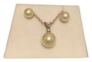 Other Pearl earring and pendant with necklace set in box