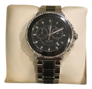 TAG Heuer Steel and Ceramic Diamonds Chronograph 41mm REF:CH1212.WRB1041