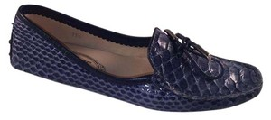 Tod's Flat Slip On Driving Blue Flats