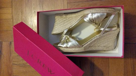 J.Crew Espadrille Heels Ankle Strap Casual gold Wedges
