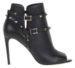 Valentino Leather Rockstud Black Boots