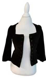 Anthropologie Vintage Velvet Fall black Jacket