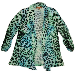 Ellen Tracy Boho Animal-print Cardigan