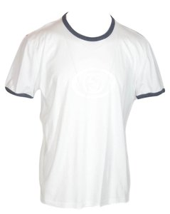 Gucci 295980 Jersey T Gg T Shirt White / Grey