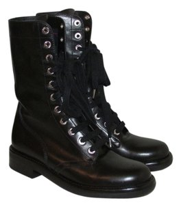 Chanel Chanelboots Chanelcombatboots Black Boots