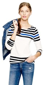 J.Crew T Shirt brillant blue, navy blue and white
