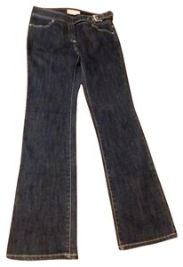 Michael Kors Belted Rynestones Light Wash Boot Cut Jeans-Light Wash