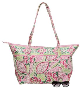 Vera Bradley Quilted Pinwheel Pink Travel Bag