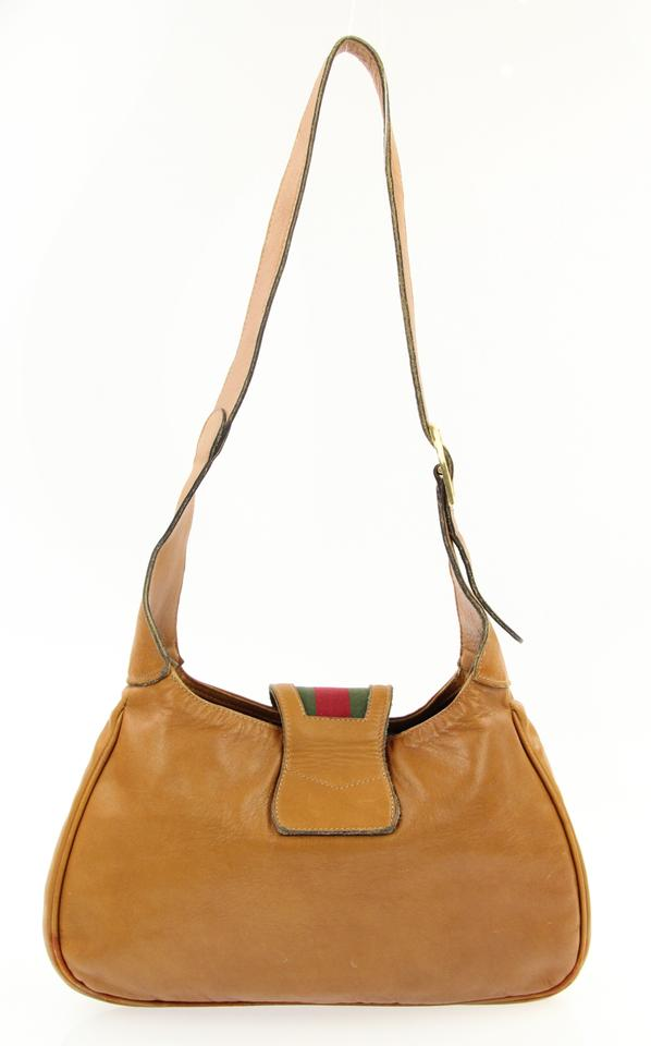East West Web Tan Brown Leather Shoulder Bag - Tradesy 472bf999f694d