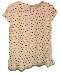 Ted Baker Top White, green, pink, brown, black