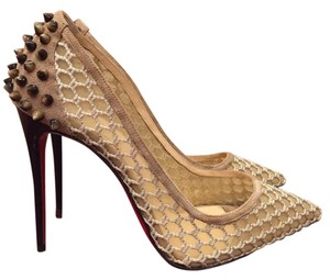 Christian Louboutin Guni Pump Spike Beige Pumps