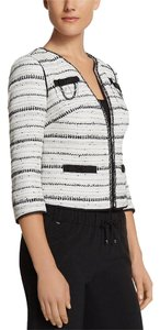 White House | Black Market Whbm Tweed Chanel Chains Black and White Blazer