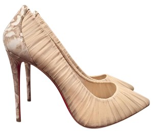 Christian Louboutin Follies Draperia Beige Pumps