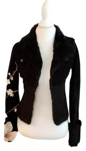 bebe Rabbit Fur Winter black Jacket