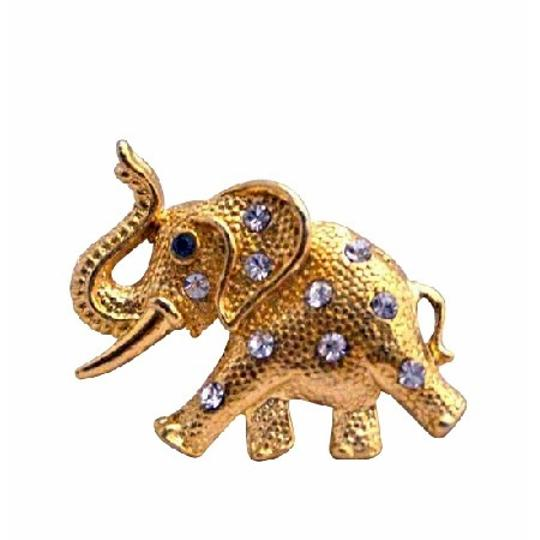 Golden Pretty Gift Gold Elephant Vintage Trunk Brooch/Pin